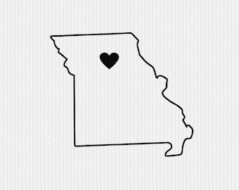 missouri outline heart svg dxf file stencil silhouette cameo cricut downloads clip art commercial use
