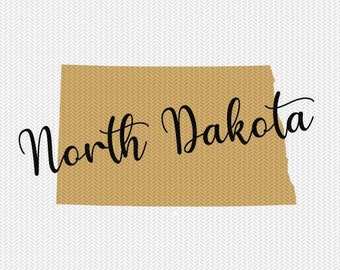 north dakota state svg dxf file instant download silhouette cameo cricut downloads clip art commercial use