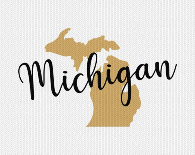 michigan state svg dxf file instant download silhouette cameo cricut downloads clip art commercial use