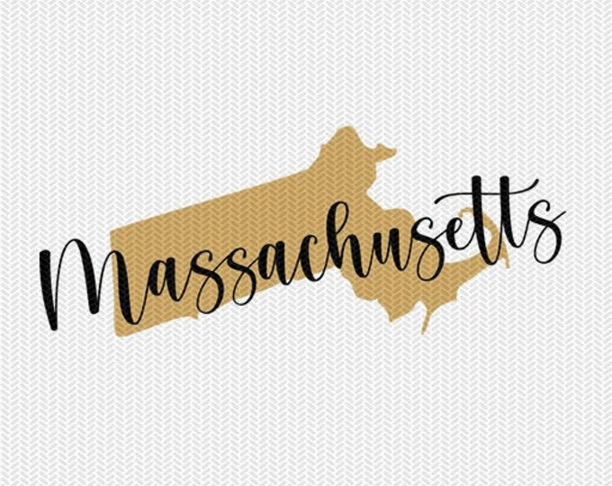 massachusettes state svg dxf file instant download silhouette cameo cricut downloads clip art commercial use