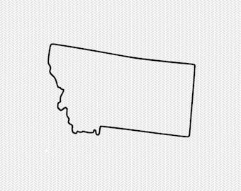 montana outline svg dxf file stencil silhouette cameo cricut downloads clip art commercial use