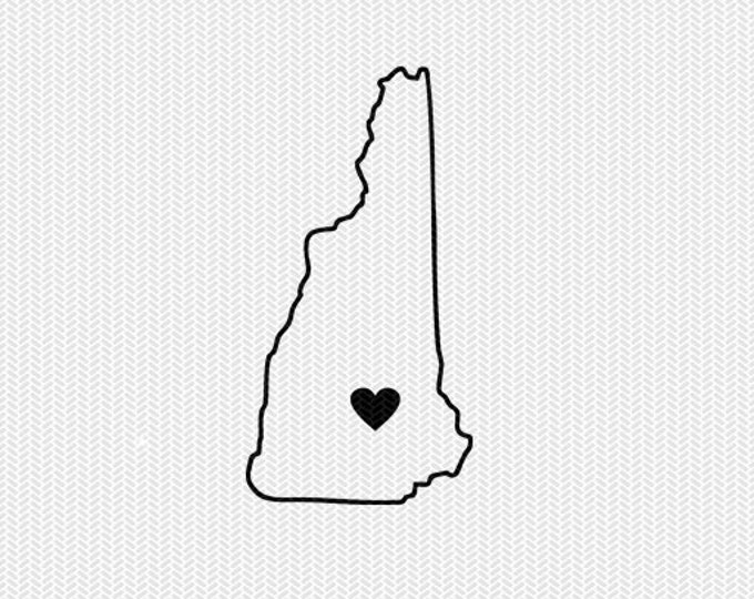 new hampshire outline heart svg dxf file stencil silhouette cameo cricut downloads clip art commercial use
