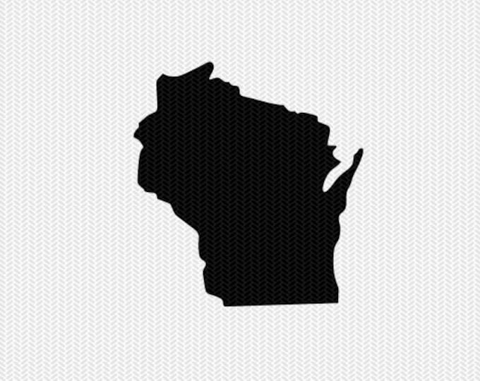 wisconsin svg dxf file stencil silhouette cameo cricut clip art commercial use