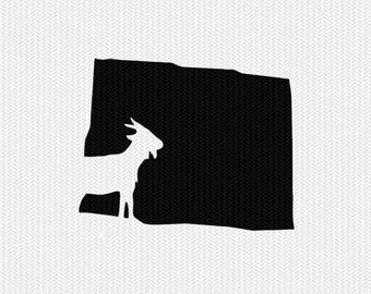 colorado goat svg dxf file stencil instant download silhouette cameo cricut downloads clip art animals goat state svg dxf file