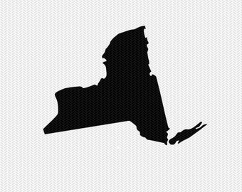 new york svg dxf file stencil silhouette cameo cricut downloads state svg clip art commercial use