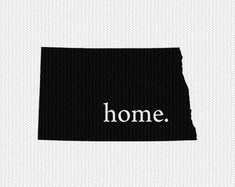 north dakota home svg dxf file stencil instant download silhouette cameo cricut downloads clip art home state svg dxf file