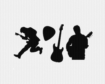 guitar svg dxf jpeg png file instant download stencil silhouette cameo cricut clip art commercial use