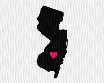 new jersey heart svg dxf cut file stencil silhouette cameo cricut download clip art commercial use