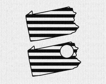 pennsylvania stripes monogram svg dxf file download stencil silhouette cameo cricut downloads cut file downloads clip art commercial use
