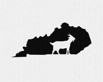 kentucky goat svg dxf file stencil instant download silhouette cameo cricut downloads clip art animals goat state svg dxf file