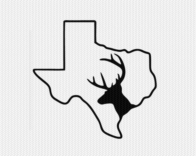 texas deer hunting svg dxf file stencil instant download silhouette cameo cricut downloads clip art deer hunting state svg dxf file