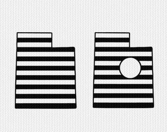 utah stripes monogram svg dxf file download stencil silhouette cameo cricut downloads cut file downloads clip art commercial use