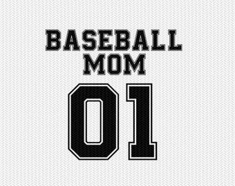 baseball mom 01 svg dxf file instant download silhouette cameo cricut clip art commercial use