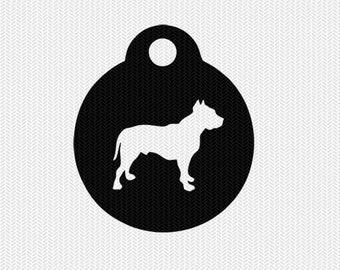dog tag svg dxf cut file stencil silhouette cameo cricut downloads clip art commercial use