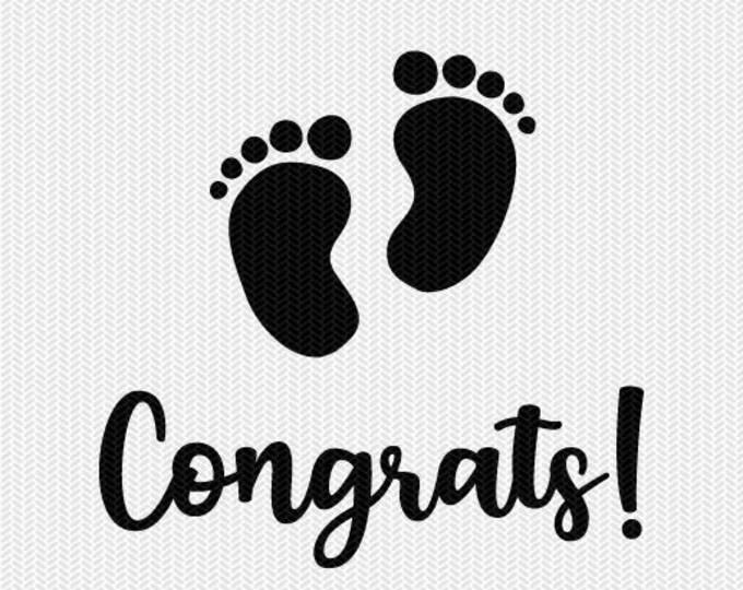 congrats baby svg dxf file  stencil silhouette cameo cricut commercial use cricut downloads