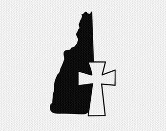 new hampshire cross svg dxf file stencil state cut file silhouette cameo cricut download clip art commercial use