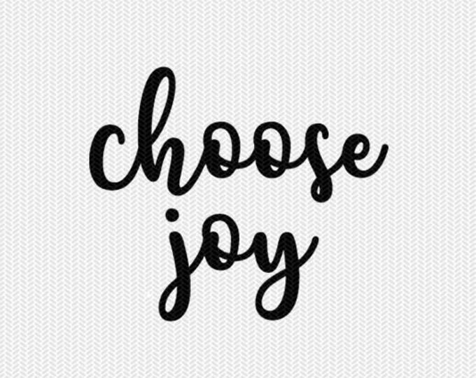 choose joy svg dxf file instant download silhouette cameo cricut downloads clip art commercial use