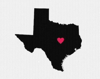 texas heart svg dxf cut file stencil monogram frame silhouette cameo cricut download clip art commercial use