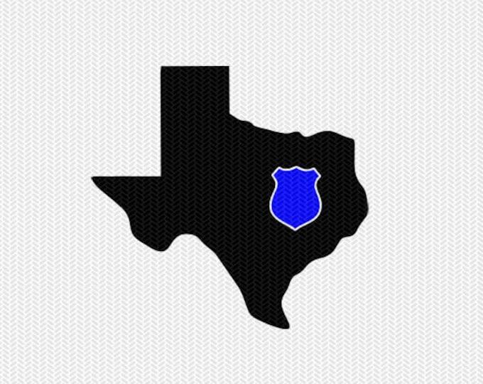 texas police svg dxf file stencil instant download silhouette cameo cricut downloads clip art state svg dxf file