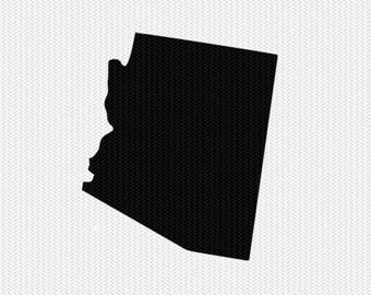 arizona state svg dxf file stencil instant download silhouette cameo cricut downloads clip art state svg dxf file