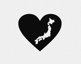 japan heart svg dxf file stencil monogram frame silhouette cameo cricut download clip art commercial use