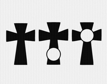 cross monogram frame svg dxf file instant download silhouette cameo cricut downloads clip art religious christian commercial use