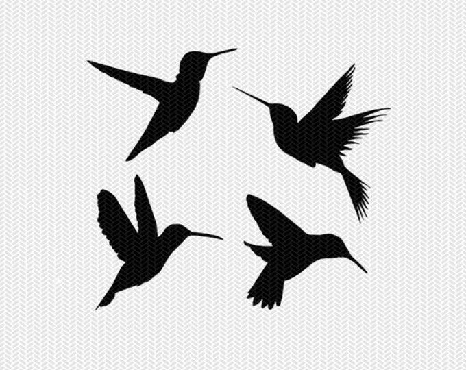 hummingbirds svg dxf jpeg png file instant download stencil silhouette cameo cricut downloads clip art commercial use