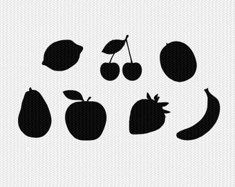 fruit svg dxf jpeg png file instant download stencil silhouette cameo cricut downloads clip art commercial use