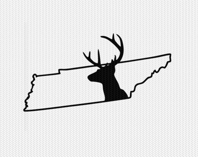 tennessee deer hunting svg dxf file stencil instant download silhouette cameo cricut downloads clip art deer hunting state svg dxf file