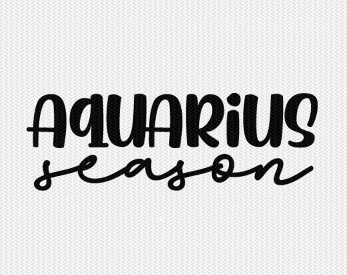 aquarius season zodiac astrology svg dxf file instant download silhouette cameo cricut clip art commercial use