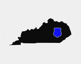kentucky police svg dxf file stencil instant download silhouette cameo cricut downloads clip art police state svg dxf file