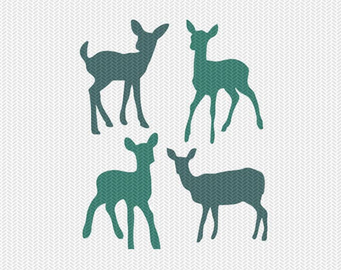 baby deer svg dxf file instant download silhouette cameo cricut clip art commercial use