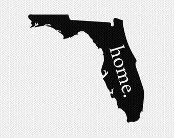 florida home svg dxf file stencil instant download silhouette cameo cricut downloads clip art home state svg dxf file