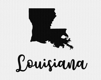 louisiana decal silhouette svg dxf file instant download silhouette cameo cricut downloads clip art commercial use