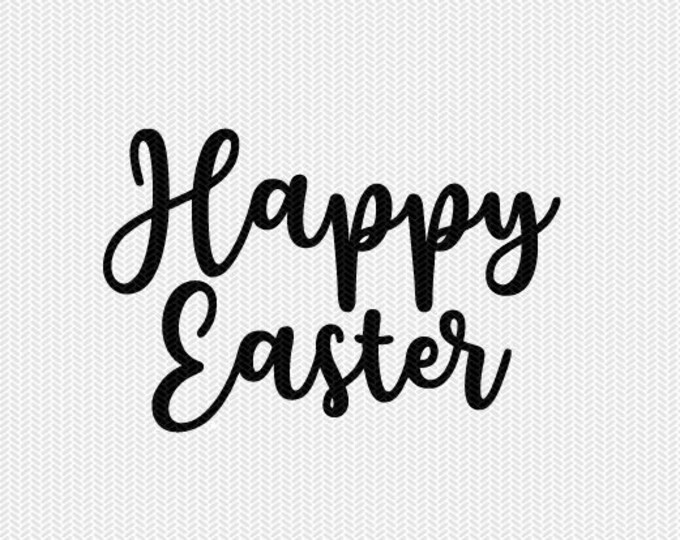happy easter svg dxf file instant download silhouette cameo cricut downloads clip art commercial use