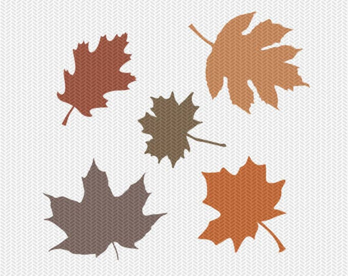 fall leaves svg dxf file instant download silhouette cameo cricut download clip art commercial use