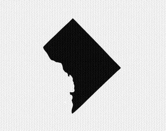 washington dc svg dxf file stencil monogram frame silhouette cameo cricut download clip art commercial use