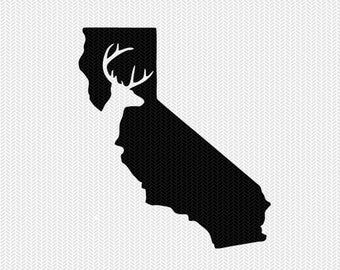 california deer hunting svg dxf file stencil instant download silhouette cameo cricut downloads clip art deer hunting state svg dxf file