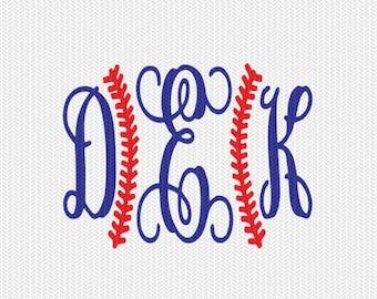 baseball stitches monogram frame svg dxf file instant download silhouette cameo cricut downloads clip art