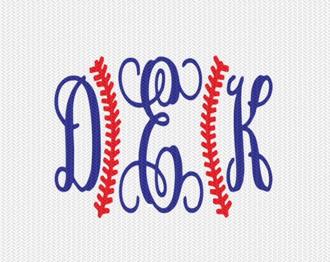 baseball stitches monogram frame svg dxf file instant download silhouette cameo cricut downloads clip art