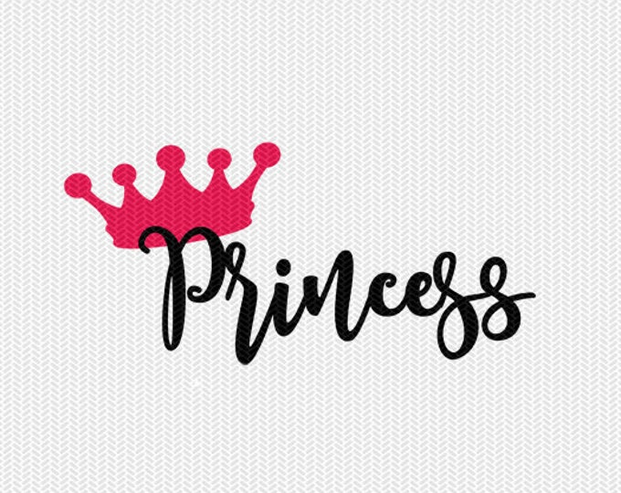 princess svg dxf cut file instant download silhouette cameo cricut download clip art