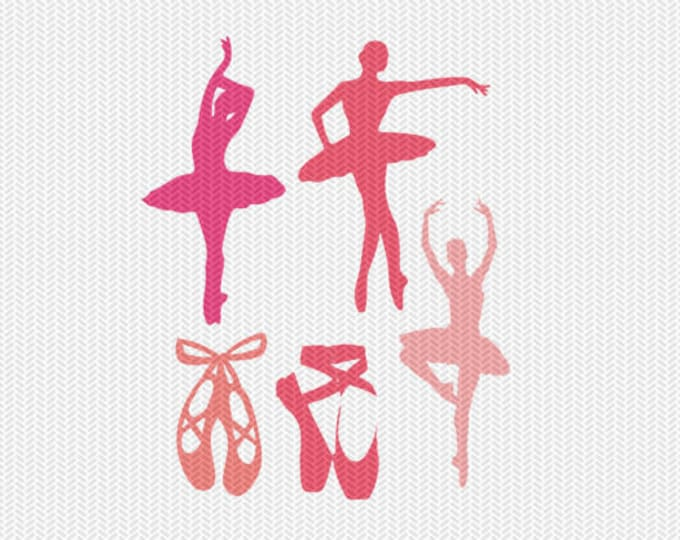 ballerina set svg dxf file instant download silhouette cameo cricut clip art commercial use
