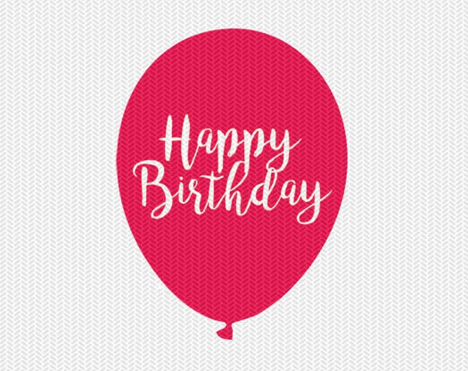 happy birthday svg dxf file instant download silhouette cameo cricut download clip art commercial use