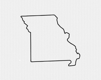 missouri outline svg dxf file stencil silhouette cameo cricut downloads clip art commercial use