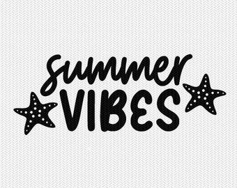 summer vibes svg dxf file stencil silhouette cameo cricut commercial use cricut downloads