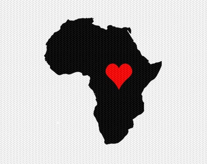 africa heart svg dxf file stencil monogram frame silhouette cameo cricut clip art commercial use