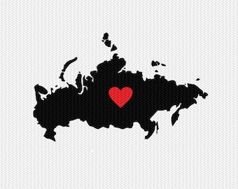 russia heart svg dxf file stencil monogram frame silhouette cameo cricut download clip art commercial use