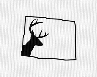 colorado deer hunting svg dxf file stencil instant download silhouette cameo cricut downloads clip art deer hunting state svg dxf file