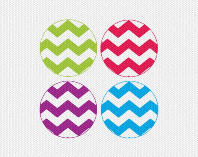 chevron circle pattern monogram frame svg dxf file instant download silhouette cameo cricut clip art commercial use