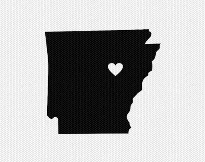 arkansas heart svg dxf cut file stencil monogram frame silhouette cameo cricut download clip art commercial use